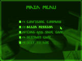 Syndicate DOS Main Menu