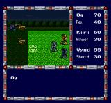 Cyber Knight SNES Random battle. Move your character to the designated spot