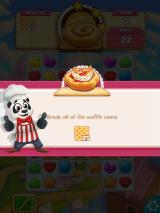 Cookie Jam iPad In this level, you have to clear all the waffle cone squares.