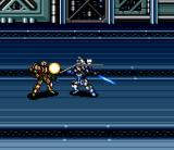 Cyber Knight II: Chikyū Teikoku no Yabō SNES The commander fights melee