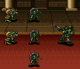 Cyber Knight II: Chikyū Teikoku no Yabō SNES Vynd is facing a group of enemies