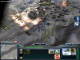 Command & Conquer: Generals Windows Helicopter missile barrage against GLA trucks
