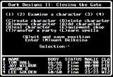 Dark Designs II: Closing the Gate Apple II Main menu