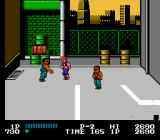 Double Dragon NES A Roper throws the oil drum.