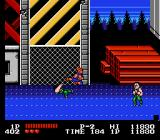 Double Dragon NES Flying Kick at the Industrial Area.