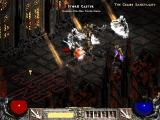 Diablo II Windows Battling the Storm Caster in one of the chapels in hell