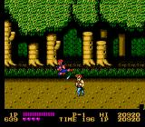 Double Dragon NES The Hideout of the Black Warriors lies beyond this forest.
