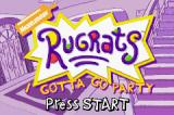 Rugrats: I Gotta Go Party Game Boy Advance Title screen