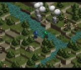 Front Mission SNES Enemy paratroopers landing