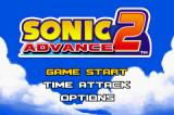 Sonic Advance 2 Game Boy Advance Main Menu