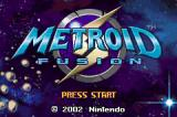 Metroid Fusion Game Boy Advance Title Screen