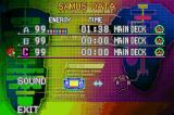 Metroid Fusion Game Boy Advance Loading Menu