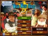 Wild West Quest 2 iPad Title and main menu. As this is the demo, there is a Purchase button.
