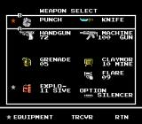 Snake's Revenge NES Your weapons...