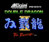 Double Dragon II: The Revenge NES Title Screen (US version)