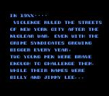 Double Dragon II: The Revenge NES Opening Prologue