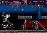 Castlevania Bloodlines Genesis Is that a gravity-defying skeleton up there!