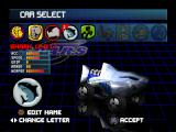 S.C.A.R.S. PlayStation Car select screen