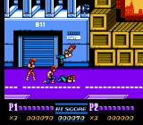 Double Dragon II: The Revenge NES Williams falls victim to the combined strenght of both Lee brothers (a first for the NES series).