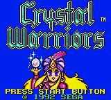 Crystal Warriors Game Gear Title
