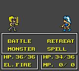 Crystal Warriors Game Gear Duel