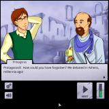 Socrates Jones: Pro Philosopher Browser Enter Protagoras. He thinks you are the original Socrates.
