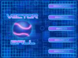 Vector Ball iPad Title and main menu