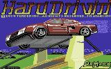 Hard Drivin' Commodore 64 Title screen