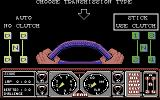Hard Drivin' Commodore 64 Choose a transmission type