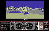 Hard Drivin' Commodore 64 Watch out for oncoming traffic