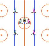 Stick Hunter: Exciting Ice Hockey NES Start of a game.