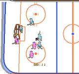 Stick Hunter: Exciting Ice Hockey NES On the defense.