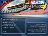 NASCAR Racing 4 Windows The game's main menu