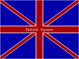British Square DOS The game's title screen. Naturally the game plays 'God Save The Queen' when displaying this.