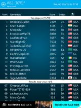 Wordament Snap Attack iPad The top ten stats plus, if you weren't in the top ten, where you stacked up.