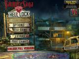 Vampire Saga: Welcome to Hell Lock iPad Title and main menu