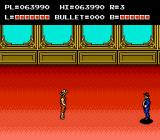 The Adventures of Bayou Billy NES Differently colored background for Richard Gordon's mansion.