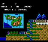 Contra NES A map of Galuga shows your current position in the game.