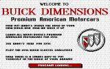 Buick Dimensions DOS The product's title screen