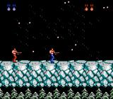Contra NES Actual snow effects in Stage 5.