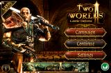 Two Worlds II: Castle Defense iPhone Title and main menu