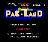 Pac-Land NES Title