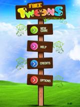 Tweens iPad Title and main menu (Free ad supported version)