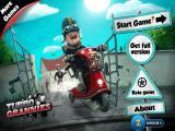 Turbo Grannies iPad Title and main menu (free trial version)