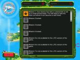 Tropical Stormfront iPad Select your mission. Only mission 1 is available to start.
