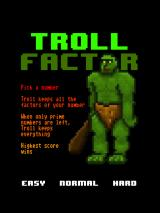 Troll Factor iPad Title and main menu
