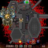 ImageFight Sharp X68000 The butterfly-shaped device to the right of the enemy attaches at the front of the ship and greatly improves its fire power
