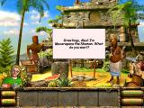 The Treasures of Mystery Island iPad Talking to the shaman