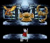 Daikaijū Monogatari SNES Battle in a dungeon