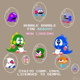 Bubble Bobble Sharp X68000 Loading screen